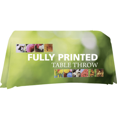 Fully printed table throws