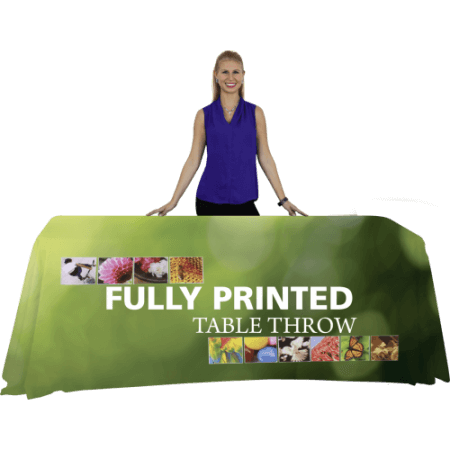 Fully printed table throws. 6'