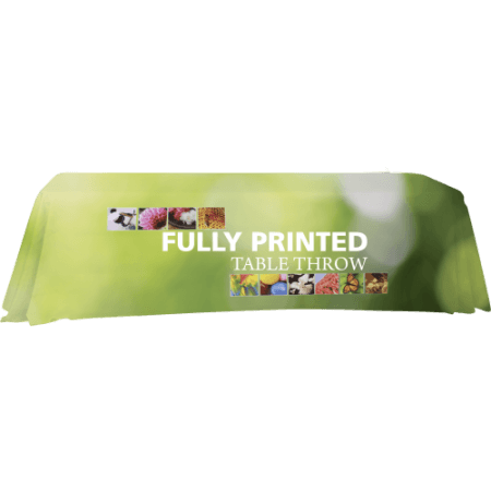 Fully printed table throws. 8'
