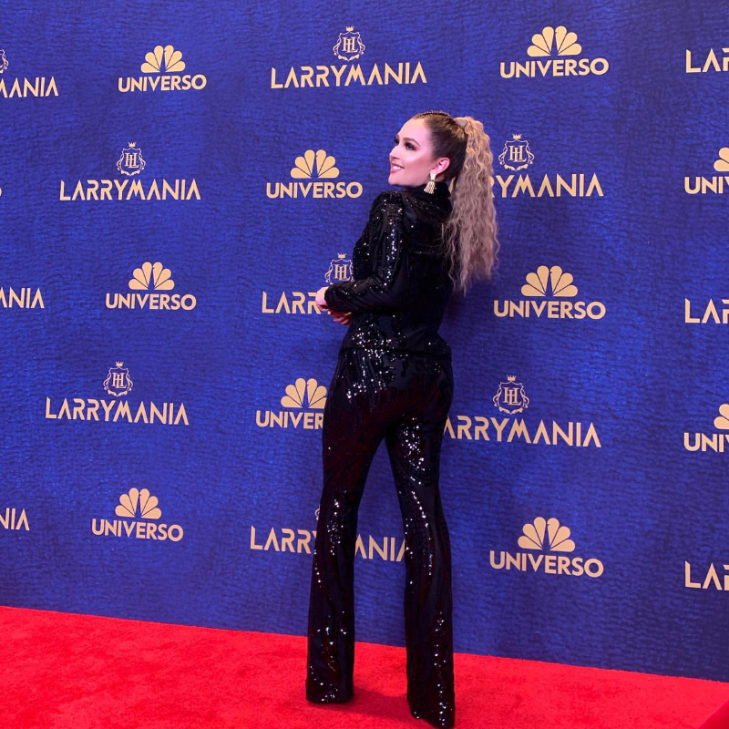 Hollywood glam on the red carpet for Larrymania with our 8'x20' seamless Media Wall center stage.