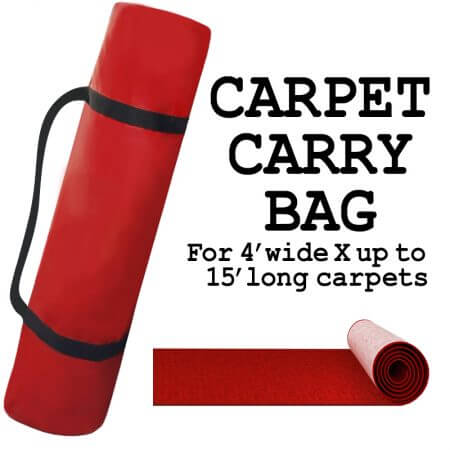 This handy carpet carry bag is great for travel. For 4' X up to 15' long carpets.