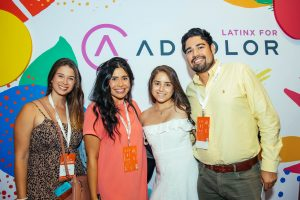 10' fabric stretch display with custom cut shapes for Adcolors inaugural Latinx Dinner sponsored & hosted by Google