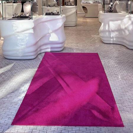 pink carpet store floor