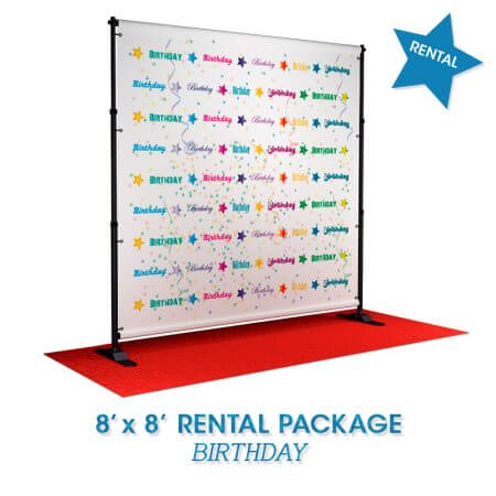 Birthday rental package backdrop