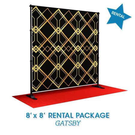 Gatsby rental backdrop package