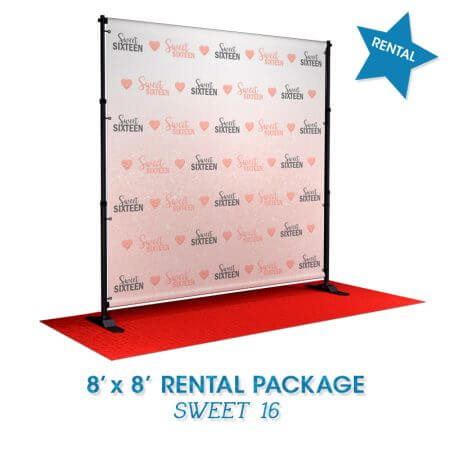 Sweet 16 rental package