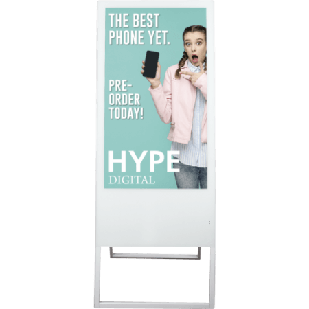 The Hype Digital Banner is an impressive LCD display that is eye-catching for any event!
