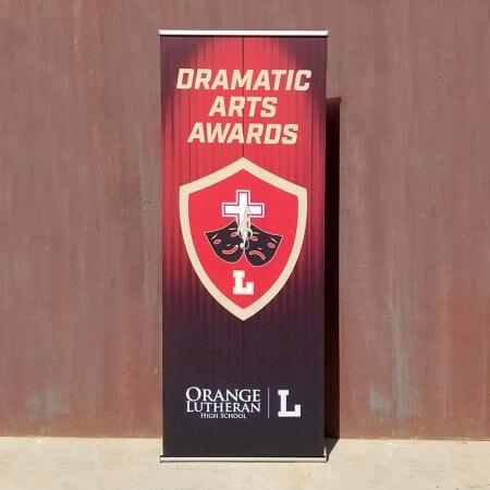 orange lutheran dramatic awards star retractable banner