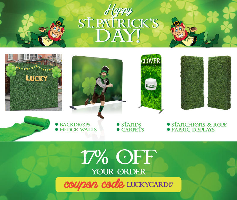 St Patrick's Day Sale! 17% off your entire order!