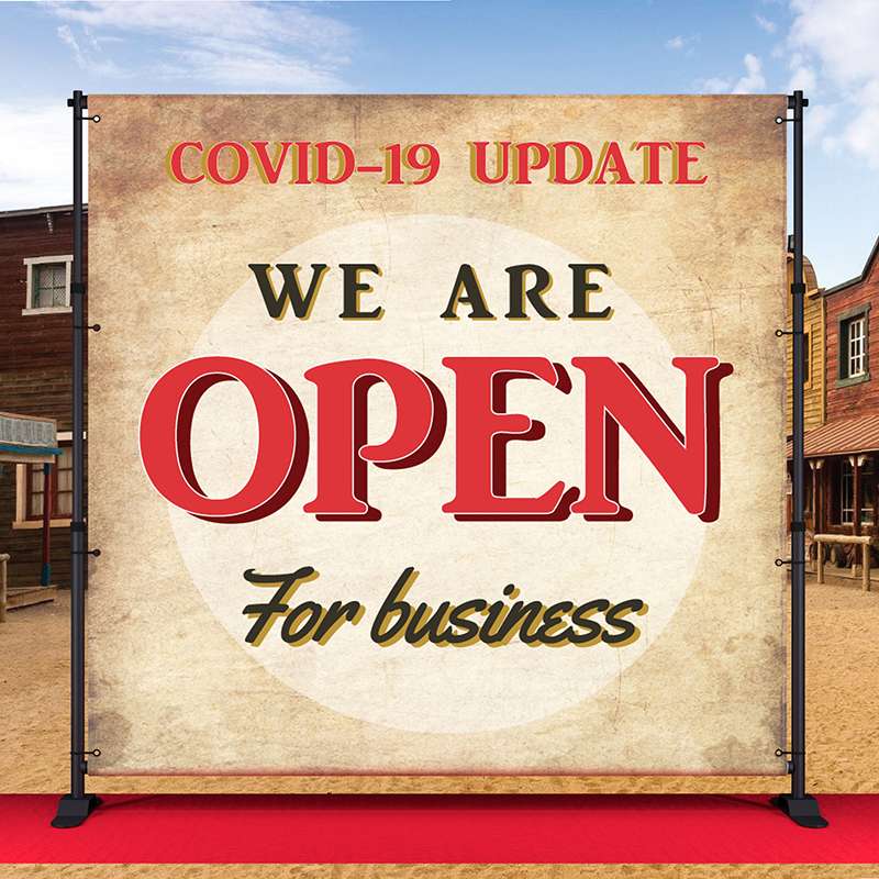 We are Open - Covid
