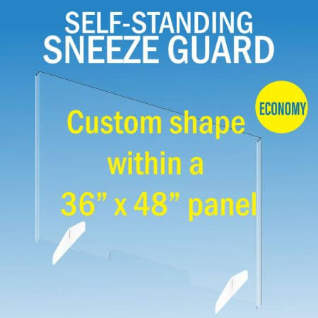 sneeze guard large