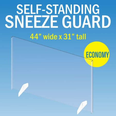 sneeze guard in stock