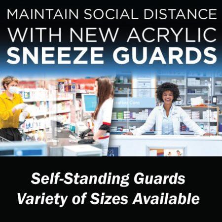 sneeze guard plexi