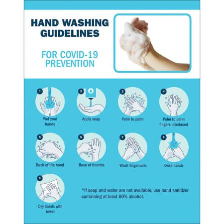 covid hand washing poster
