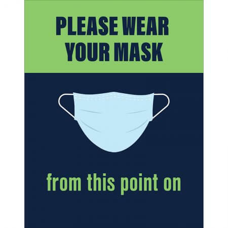 wear your mask social distancing poster