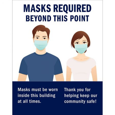 masks required beyond this point covid poster 22x28