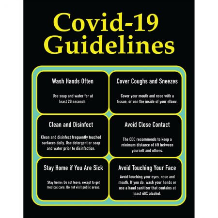 covid 18 guidelines poster