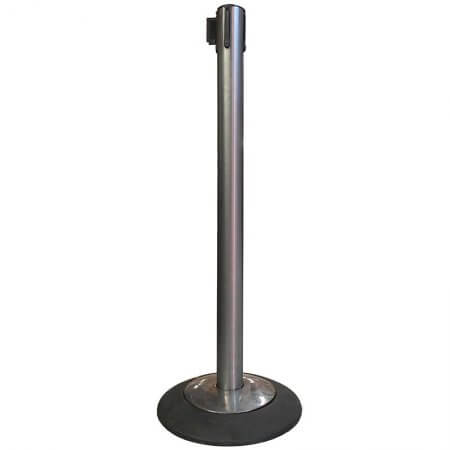 Chrome Black Belt Stanchion Social Distancing