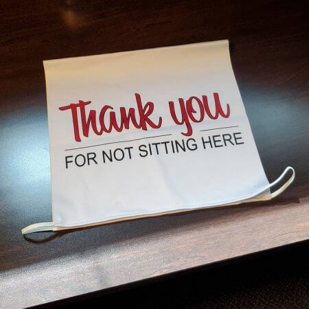 Social Distancing Chair Covers Thank You for Not Sitting