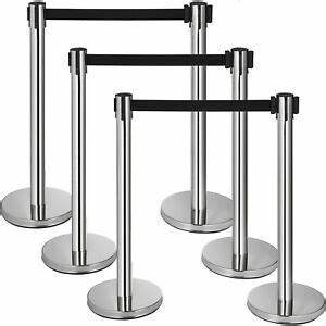 chrome black belt stanchions