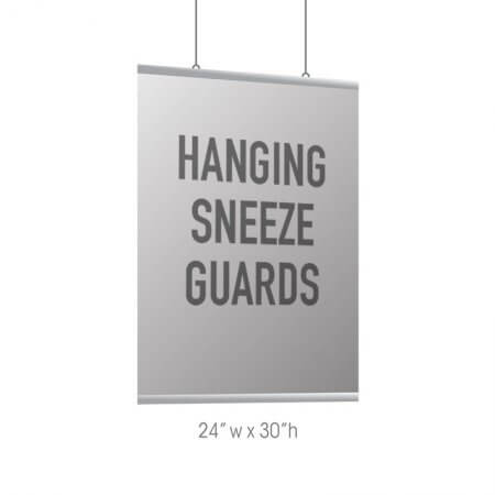 Hanging Sneeze Guard