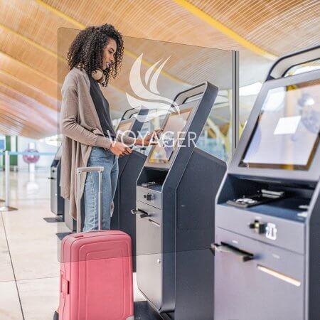 kiosk divider airport