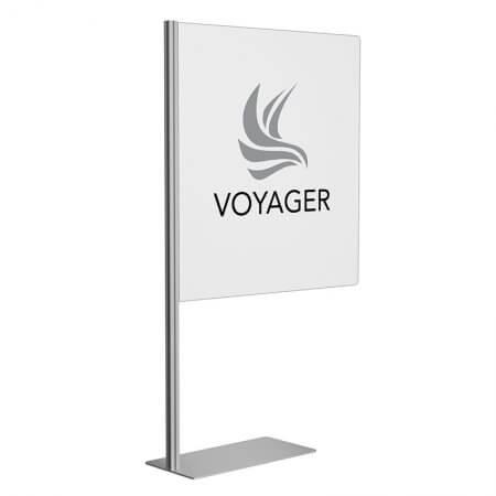 kiosk divider clear custom logo