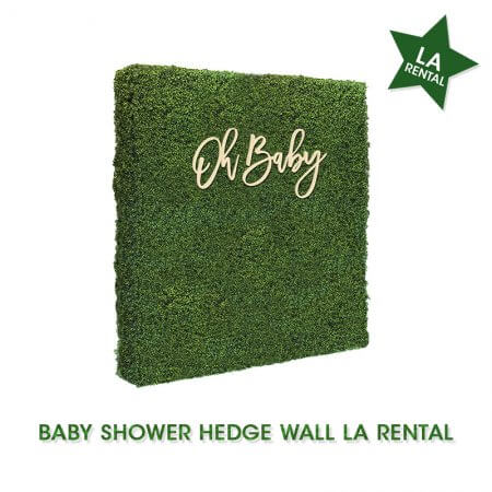 baby shower hedge wall rental