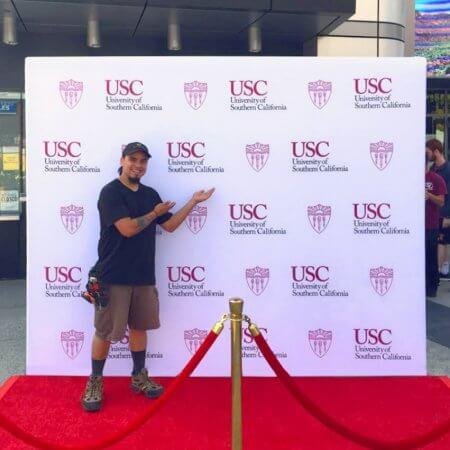USC 8x10 master fabric stretch display backdrop